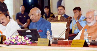 The President, Shri Ram Nath Kovind addressing the opening session of the 48th Conference of Governors, at Rashtrapati Bhavan, in New Delhi on October 12, 2017. The Vice President, Shri M. Venkaiah Naidu and the Prime Minister, Shri Narendra Modi are also seen.