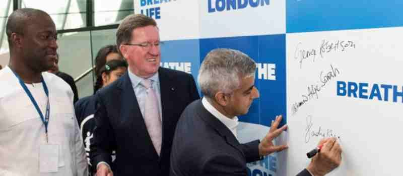 Mayor of London, Sadiq Khan, signed the capital up to the Breathe Life coalition. Photo: UNEP