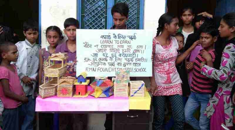 Products made by RMN Foundation school students at our production unit in Dwarka, New Delhi
