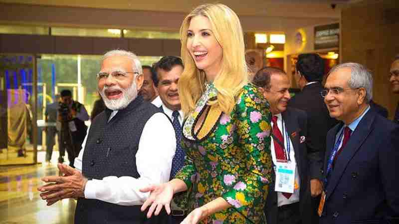 PM Narendra Modi with Ivanka Trump