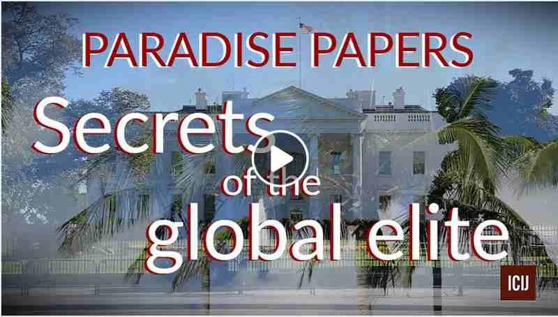 Paradise Papers. Image courtesy: ICIJ