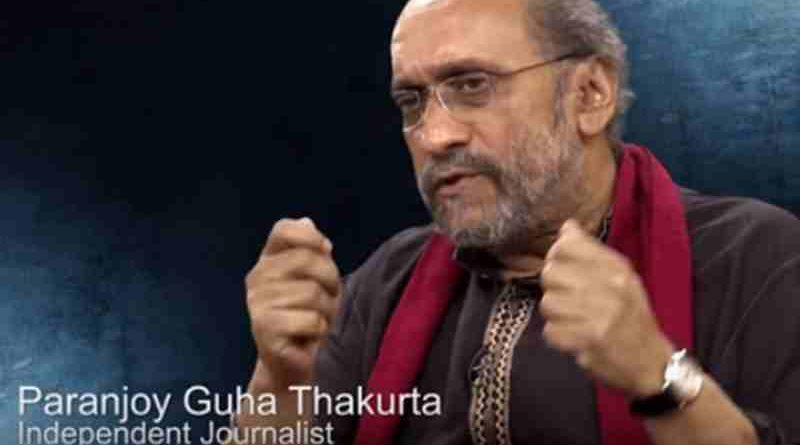 Paranjoy Guha Thakurta. Screen grab.