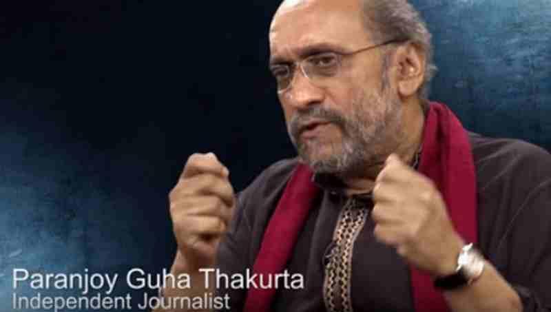 Paranjoy Guha Thakurta. Screen grab.
