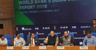 Arun Jaitley addressing a press conference on India's ranking in the World Bank's Ease of Doing Business Report 2018, in New Delhi on October 31, 2017