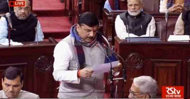 Sanjay Singh of AAP Taking Oath in Rajya Sabha. Photo: AAP