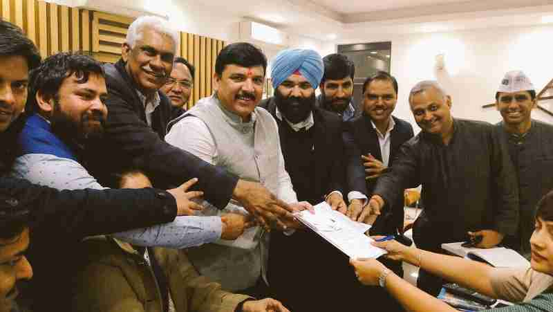 Sanjay Singh is AAP candidate for Rajya Sabha election.