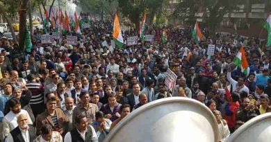 Congress holds protest to demand CM Arvind Kejriwal's resignation. Photo: Congress