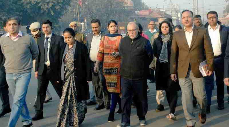 Delhi LG Anil Baijal in the streets of Delhi