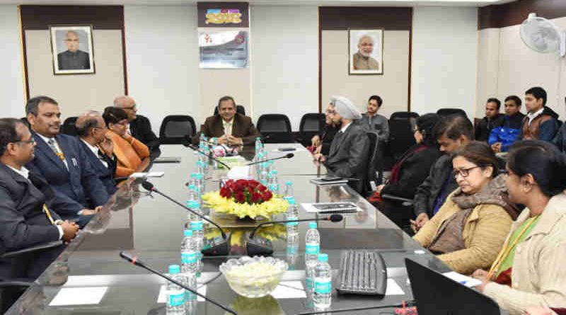 Secretary, Ministry of Women and Child Development, Shri Rakesh Srivastava addressing at the launch of the Rapid Reporting System (RRS) for the Scheme for Adolescent Girls (SAG) and Management Information System (MIS) for the Anganwadi Services (ICDS), in New Delhi on January 24, 2018