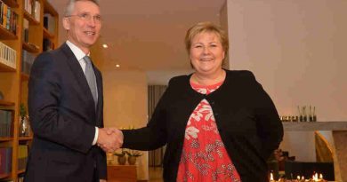 NATO Secretary General Jens Stoltenberg meets with the Prime Minister of Norway, Erna Solberg (file photo). Courtesy: NATO