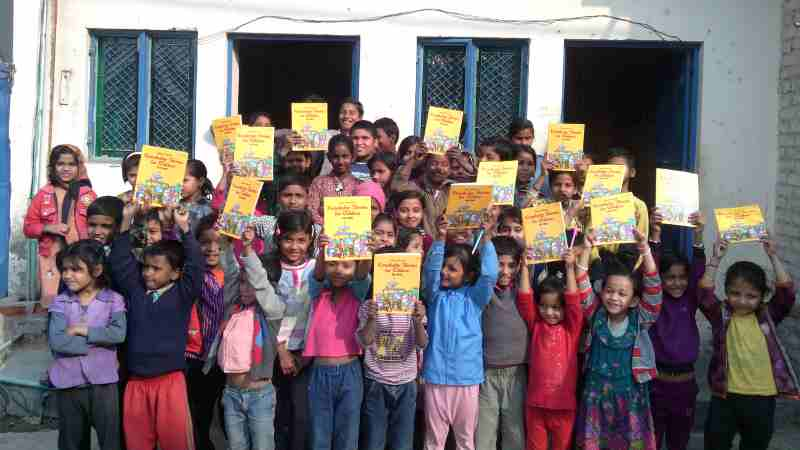 Students at RMN Foundation Free School for Deserving Children in New Delhi, India.