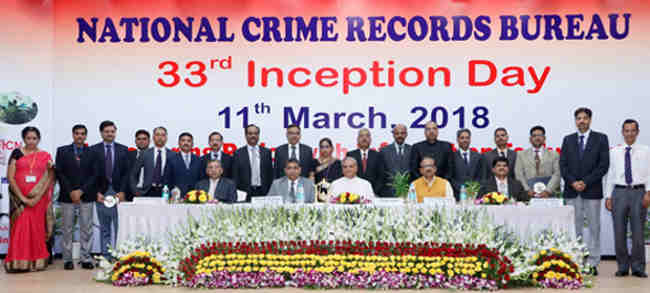 Director IB, Shri Rajiv Jain in a group photograph at the National Crime Record Bureau 33rd Inception Day, in New Delhi on March 11, 2018