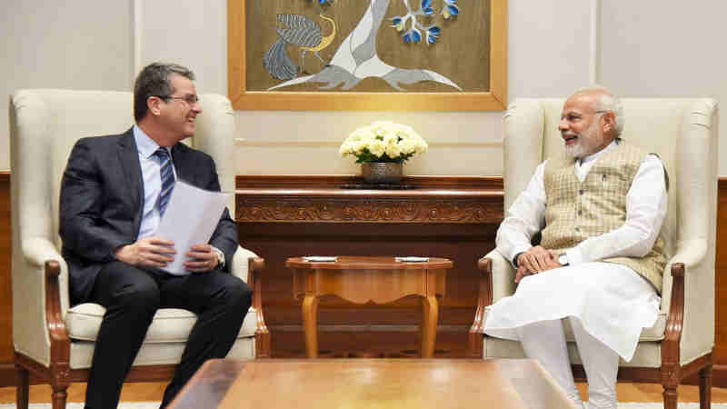 DG, WTO, Mr. Roberto Azevedo calling on the Prime Minister, Shri Narendra Modi, in New Delhi on March 19, 2018