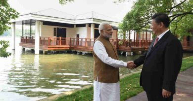 Narendra Modi and the President of the People's Republic of China, Mr. Xi Jinping along the East Lake, in Wuhan, China on April 28, 2018.