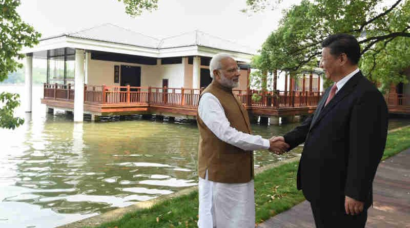 Narendra Modi and the President of the People's Republic of China, Mr. Xi Jinping along the East Lake, in Wuhan, China on April 28, 2018 (file photo). Courtesy: PIB