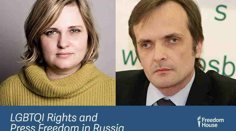 2018 Freedom Award recipients Elena Milashina and Igor Kochetkov. Photo: Freedom House