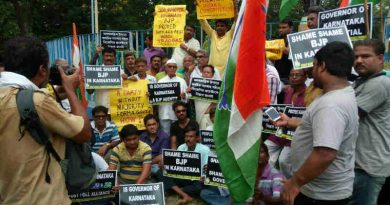 Protest by Congress in West Bengal. Photo: Congress