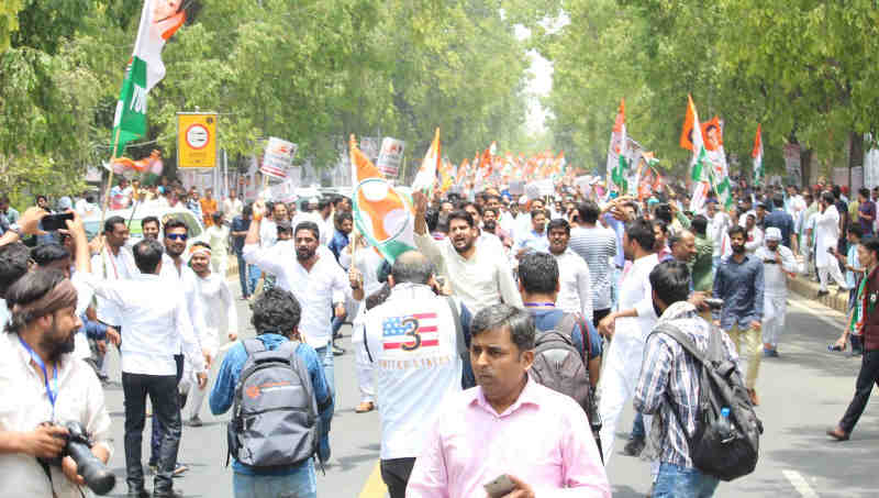 Youth Congress Holds Save India Protest