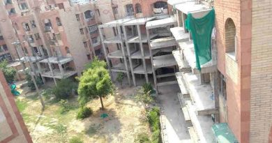 As Court Stops FAR Construction, R.D. Apartments Becomes Disputed Property. FAR Construction Stopped by the Court at R. D. Apartments in Dwarka. Photo courtesy: Residents of R. D. Apartments