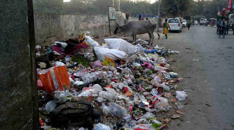 A dirty locality in Delhi. The city has become a stinking hell because of bureacratic and political corruption. Photo: Rakesh Raman / RMN News Service