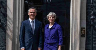 NATO Secretary General Jens Stoltenberg meets with the Prime Minister of the United Kingdom of Great Britain and Northern Ireland, Theresa May. Photo: NATO