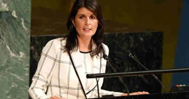 "Ambassador Nikki R. Haley of the United States addresses General Assembly on the ""Illegal Israeli actions in Occupied East Jerusalem and the rest of the Occupied Palestinian Territory"". UN Photo / Evan Schneider"