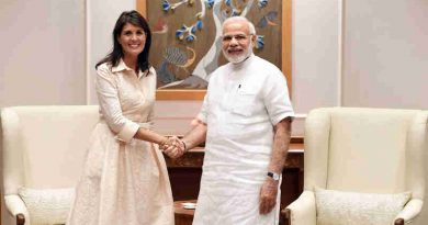 The US Ambassador to the United Nations, Ms. Nikki Haley calls on the Prime Minister, Shri Narendra Modi, in New Delhi on June 27, 2018.