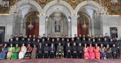 The President, Shri Ram Nath Kovind with the Assistant Secretaries (IAS Officers of 2016 Batch), at Rashtrapati Bhavan, in New Delhi on July 27, 2018.