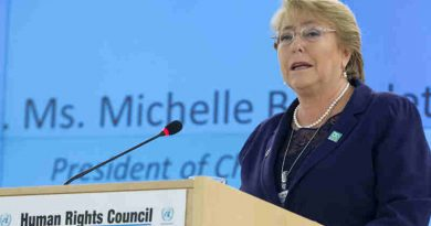 Michele Bachelet, Presidente of Chile speaks during Special Session of the Human Rights Council. 29 March 2017. UN Photo / Jean-Marc Ferré (file photo)