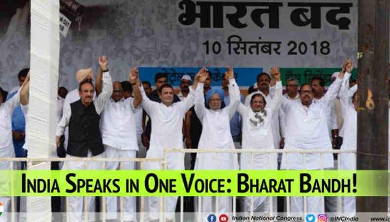 Congress Leads Massive Bharat Bandh Against Modi Govt