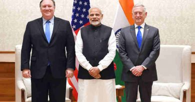 Narendra Modi meets the US Secretary of State, Mr. Michael R. Pompeo and the US Secretary of Defence, Mr. James Mattis, in New Delhi on September 06, 2018
