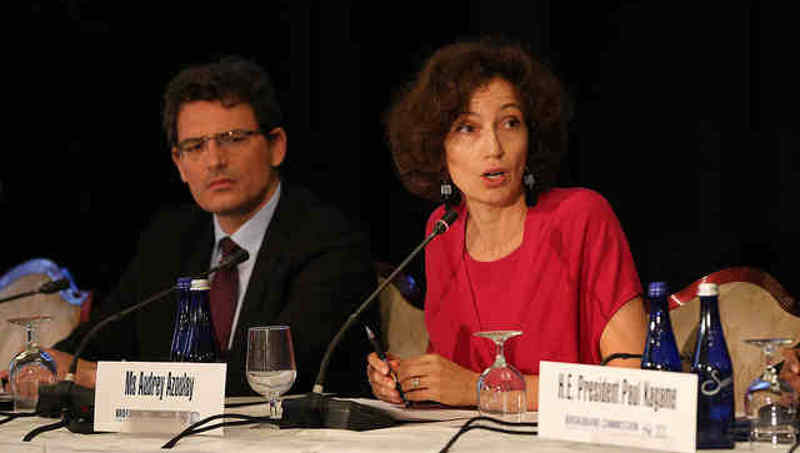 Ms Audrey Azoulay, Director-General UNESCO at Broadband Commission for Sustainable Development Meeting September 2018. Photo: ITU