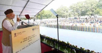 Narendra Modi attends commemoration of 75th Anniversary of Formation of Azad Hind Government. Photo: PIB