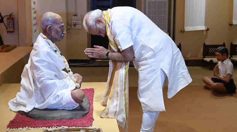 Narendra Modi visiting the Mahatma Gandhi Museum, in Rajkot, Gujarat on September 30, 2018 (file photo). Courtesy: PIB