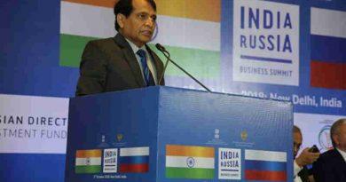Suresh Prabhu Speaking at the India-Russia Business Summit in New Delhi (file photo)