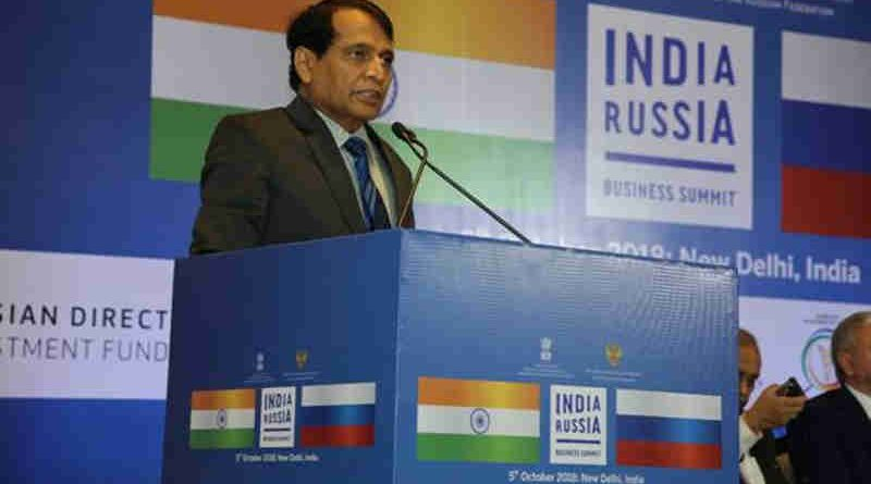 Suresh Prabhu Speaking at the India-Russia Business Summit in New Delhi (file photo)