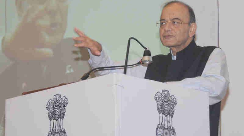 Arun Jaitley delivering the keynote address at the Competition Commission of India's (CCI) One-Day Road Show on Competition Law (National Conference on Public Procurement), in New Delhi on November 05, 2018