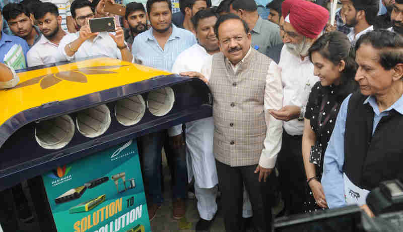 Dr. Harsh Vardhan at the launch of the Delhi Clean Air Campaign, in New Delhi on November 01, 2018. Photo: PIB