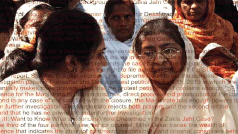 Zakia Jafri Case of Gujarat Riots. Photo courtesy: CJP