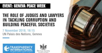 Role of Judges and Lawyers in Tackling Corruption