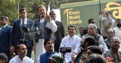 Rahul Gandhi at Kisan Mukti March in New Delhi on November 30, 2018. Photo: Congress