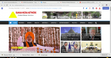 Screenshot of the Blocked News Site Raman Media Network