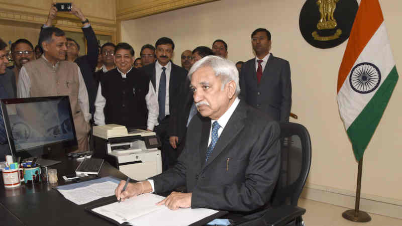 Sunil Arora taking charge as the New Chief Election Commissioner of India, in New Delhi on December 02, 2018