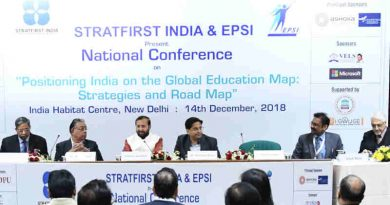"""Prakash Javadekar at the inauguration of the National Conference on """"Positioning India on the Global Education Map: Strategies and Road Map"""", in New Delhi on December 14, 2018"""