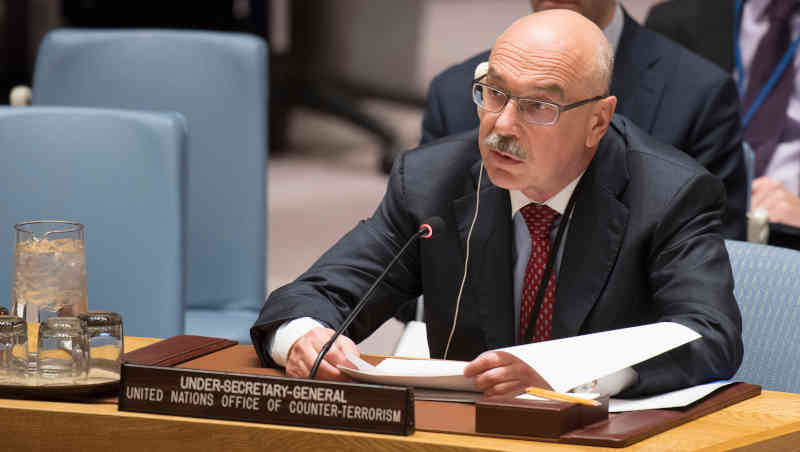 Vladimir Voronkov, Under-Secretary-General of the United Nations Counter-Terrorism Office, addresses the Security Council meeting on threats to international peace and security caused by terrorist acts. Photo: UN