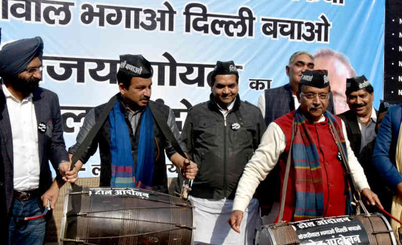BJP launched drum campaign: Kejriwal Bhagao, Delhi Bachao in Delhi on Janaury 27, 2019. Photo: BJP