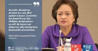 Chief Justice Teresita Leonardo de Castro. Photo: UNODC