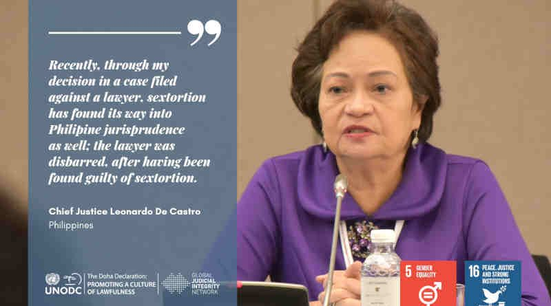 Chief Justice Teresita Leonardo de Castro. Photo: UNODC