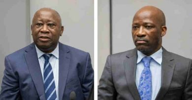 Mr Laurent Gbagbo and Mr Charles Blé Goudé in Courtroom I at the seat of the International Criminal Court in The Hague, Netherlands on 15 January 2019 Photo: ICC-CPI