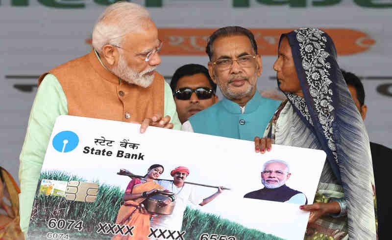 Narendra Modi during the launch of the PM-Kisan scheme, at Gorakhpur, in Uttar Pradesh on February 24, 2019